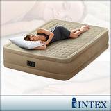 【INTEX】超厚絨豪華雙人加大充氣床-寬152cm (內建電動幫浦)fiber-tech新型
