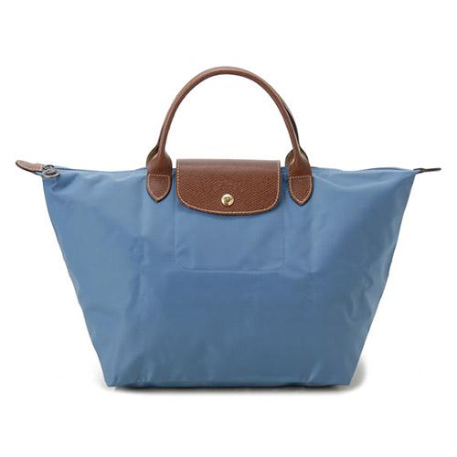 Longchamp 經典高彩度可摺疊水餃包 短把/中/孔雀藍