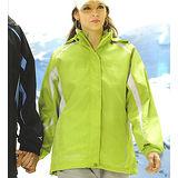 義大利 DIADORA女版運動休閒二件式(外套+雙面穿背心)-螢綠