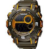 Timberland TUXBURY系列多功能數位腕錶-軍綠/53.5mm TBL.14503JPGNOR/02
