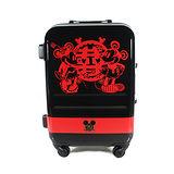 【CROWN皇冠】19.5吋 Disney 米奇 3.1kg輕量高級蜜月旅行箱 C-FA029 行李箱 米老鼠