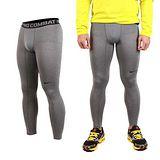 (男) NIKE 緊身長褲-彈力長褲 慢跑 路跑 三鐵 緊身褲 灰黑