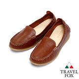 (女)Travel Fox 柔軟皮革鬆緊帶舒適鞋915315(咖啡-12)