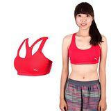(女) PUMA 日本線韻律系列素色短版運動背心-運動內衣 桃紅金