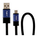 fujiei USB A公-micro USB傳輸充電線1.8M藍色