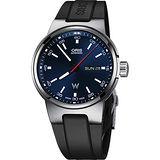 Oris Willimas F1賽車系列日曆星期機械錶-藍x黑/42mm 0173577164155-0742450