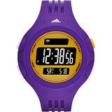 adidas 精英休閒冷光電子腕錶-紫/52mm ADP3137