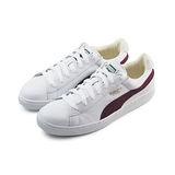 (男女)PUMA BASKET CLASSIC 休閒鞋 白/酒紅-35191238