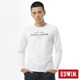 EDWIN 網路限定 E-FUNCTION長袖薄T恤-男-白色