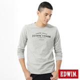 EDWIN 網路限定 E-FUNCTION長袖薄T恤-男-麻灰色