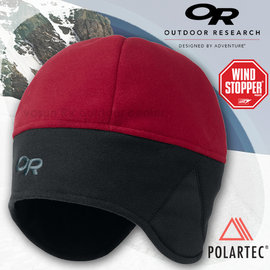 【Outdoor Research】Wind Warrior Hat™ 超輕防風透氣保暖護耳帽 Polartec + Windstopper OR 刷毛帽子 僅60g/復古紅 83165