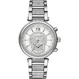 Michael Kors Sawyer 宮廷晶鑽計時腕錶-銀/39mm MK6281