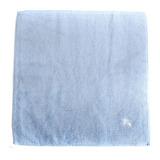 BURBERRY高爾夫球素面小方巾-水藍色