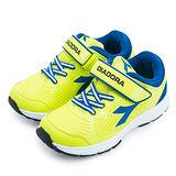 【中童】DIADORA 輕量慢跑鞋 EASY RUN系列 螢黃藍 2265
