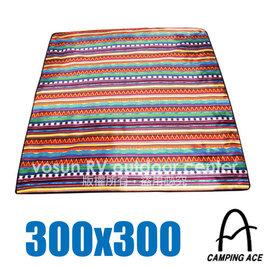 【野樂 CAMPING ACE】民族風野餐墊(300x300)/爬行墊.防沙地墊.地布.睡墊.鋁箔墊/露營.野餐  ARC-209-1
