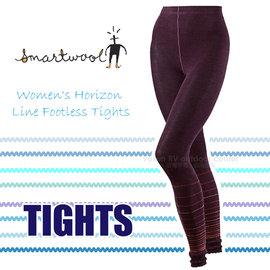 【美國 SmartWool 】女款 Horizon Line Footless Tights 美麗諾羊毛 保暖長褲/內搭褲.衛生褲.緊身褲/聰明羊.登山健行 SB619 紫