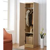 【Yomei】時尚單門衣櫃/櫥櫃(白橡色)