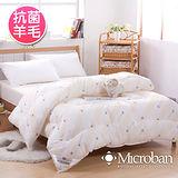 【Microban-純淨呵護】台灣製新一代抗菌羊毛被2.1kg