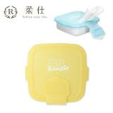 【BabyTiger虎兒寶】Roushr柔仕 矽膠抽取盒 + DIY濕布巾隨行包(20片) - 小兵黃