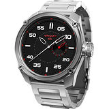 elegantsis Army 特務風雲日期時尚腕錶-黑x銀/47mm ELJT47-PW01MA