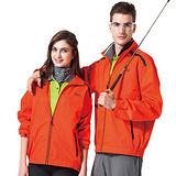 【SPAR】防潑水處理中性款防潑水外套(SP7575A)螢光橘色