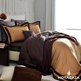 《HOYACASA 萊克爾咖》雙人四件式300織精梳長絨棉被套床包組