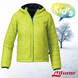【意都美 Litume】兒童新款 Primaloft保溫棉連帽外套 螢光綠 H7060