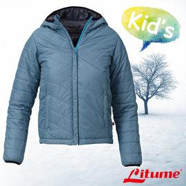 【意都美 Litume】兒童新款 Primaloft保溫棉連帽外套 藍綠 H7060