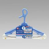 【日本LEC】 浴巾曬衣架3入 粗桿用 W-370