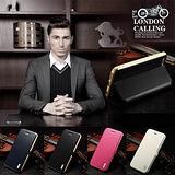 美國imatch簡約紳士系列義大利頂級皮革金屬框iPhone6S (4.7吋)手機皮套(原FineDay)
