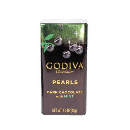 【GODIVA】珍珠鐵盒巧克力豆-薄荷黑巧克力豆
