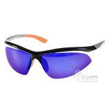 OUTDO太陽眼鏡 運動時尚水銀鏡面款(黑-橘) #TR367 NX1