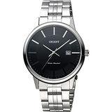 ORIENT 東方錶 SLIM系列城市時尚石英錶-黑x銀/40mm FUNG8003B