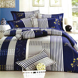 Carolan 幸福樂章-藍 雙人六件式精梳棉兩用被床罩組