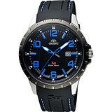 ORIENT 東方錶 SP 系列 冒險家運動石英錶-黑x藍時標/44mm FUNG3006B