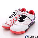 日本月星頂級競速童鞋-360動能推進足球款-6391白-(20cm-24.5cm)