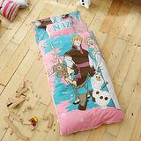 HO KANG 迪士尼授權 冬夏鋪棉兩用兒童睡袋-經典冰雪粉