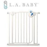 【美國 L.A. Baby】雙向自動上鎖安全鐵門欄(附贈2片延伸件可至98公分)