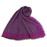 Christian Dior 撞色100%wool羊毛圍巾-紫紅色