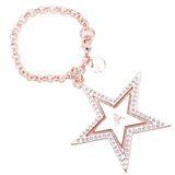 agnes b. 雙層星星鑲鑽吊飾(玫瑰金)