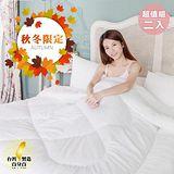 精靈工廠 ★買一送一★MIT台灣製造-西德科技雙人羽絲絨被1.3kg (B0801*2)