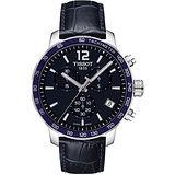 TISSOT T-Sport Quickster 競速運動計時腕錶-深藍/42mm T0954171604700