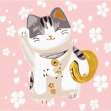 【ArtLife】歡樂新年彩繪油畫 (開運貓)
