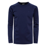 【hilltop山頂鳥】男款Zisofit保暖排汗圓領上衣H51ME6-藍