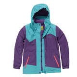 【hilltop山頂鳥】兒童款兩件式防水蓄熱羽絨外套F22CI5-藍/紫
