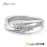 【光彩珠寶】鉑金結婚戒指 女戒 愛戀