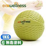 【ecowellness】環保1KG重量藥球C010-00711 抗力球健身球復健球.韻律球訓練球重力球重球.運動健身器材