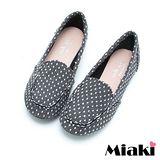 【Miaki】MIT 懶人鞋經典學院平底休閒包鞋 (灰色)