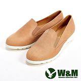 W&M (女)輕量素面休閒懶人女鞋-卡其