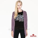 (女) BRAPPERS 女用混織紋開襟外套-紫
